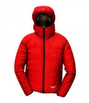 Péřová bunda Monkey Jacket červená - voděodolná
