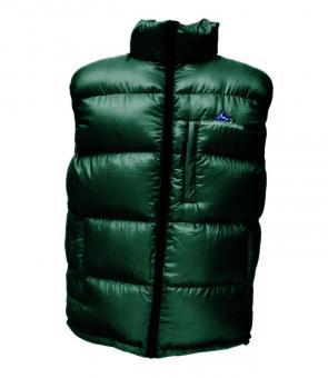 Péřová vesta tmavě zelená