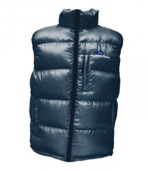 Péřová vesta modrá