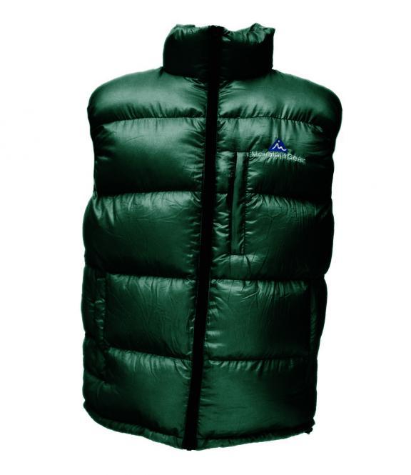 Péřová vesta tmavě zelená - výprodej